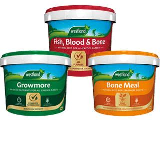 Fish, Blood and Bone, Growmore and Bone Meal Fertilisers
