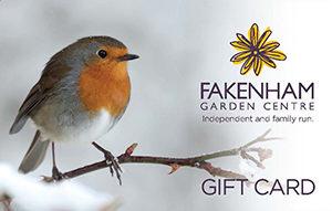Fakenham garden centre gift card robin