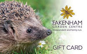 fakenham garden centre gift card hedgehog