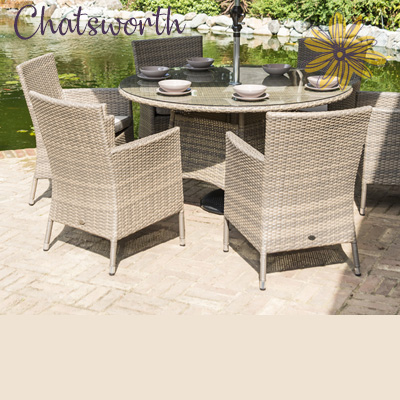Chatsworth 6 Seat Round Dining Set