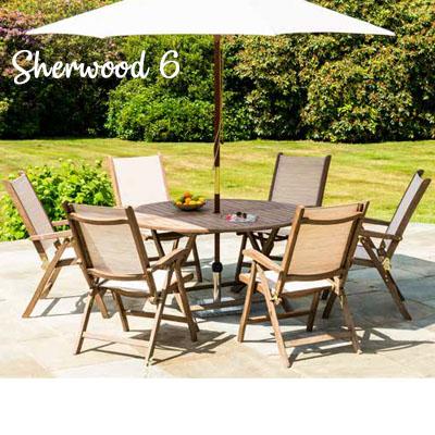 Sherwood 6 Seat Barley Round Set