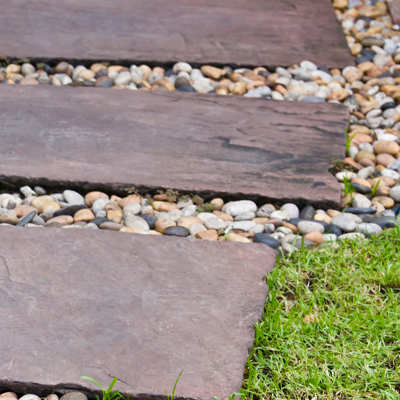 Natural and Cast Garden Slabs